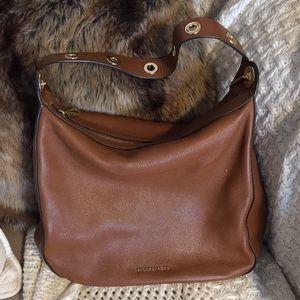 Michael Kors tan leather shoulder bag